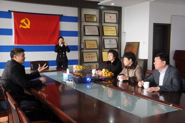 黑龙江省牡丹江市领导一行到济南义乌市场参观考察